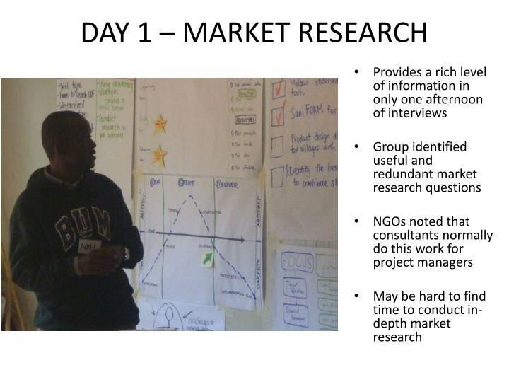 DAY 1 – MARKET RESEARCH