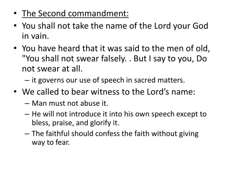 The Second commandment: