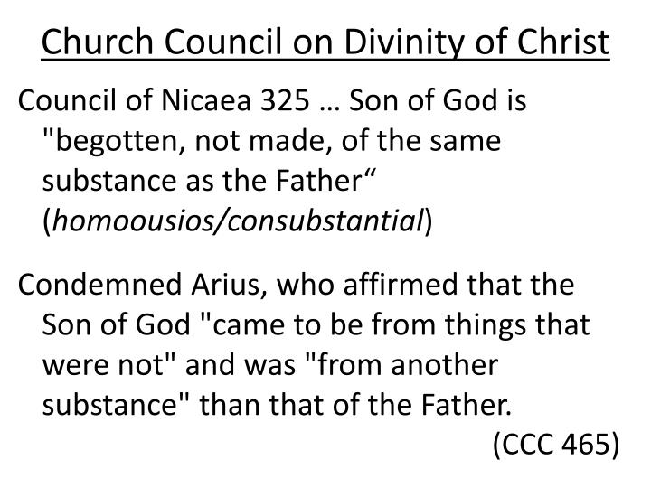 Church Council on Divinity of Christ
