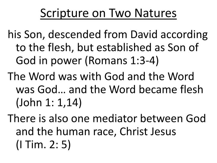 Scripture on Two Natures