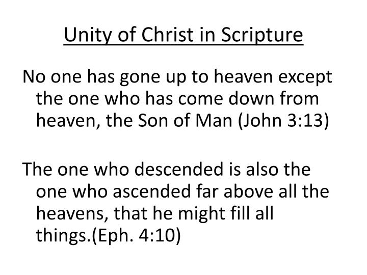 Unity of Christ in Scripture