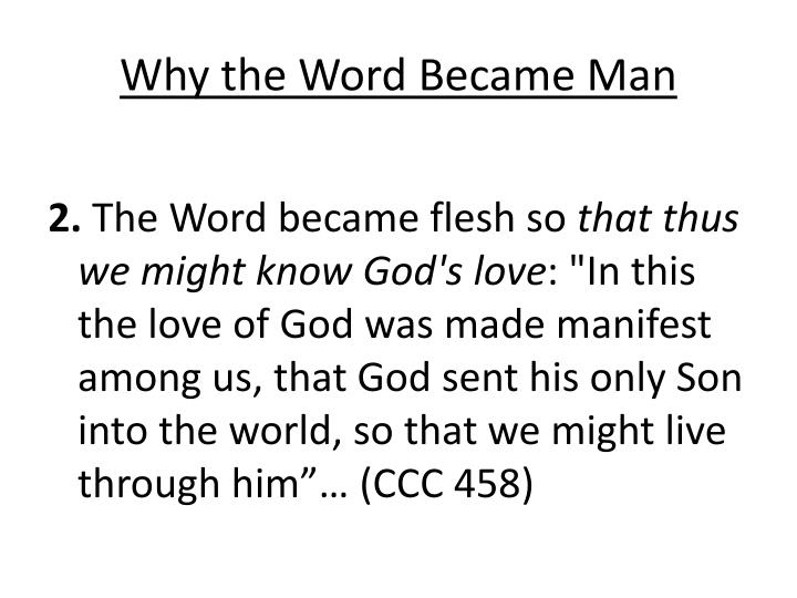 Why the Word Became Man