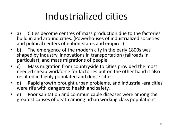 Industrialized cities