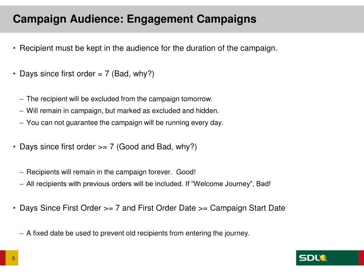 Campaign Audience: Engagement Campaigns
