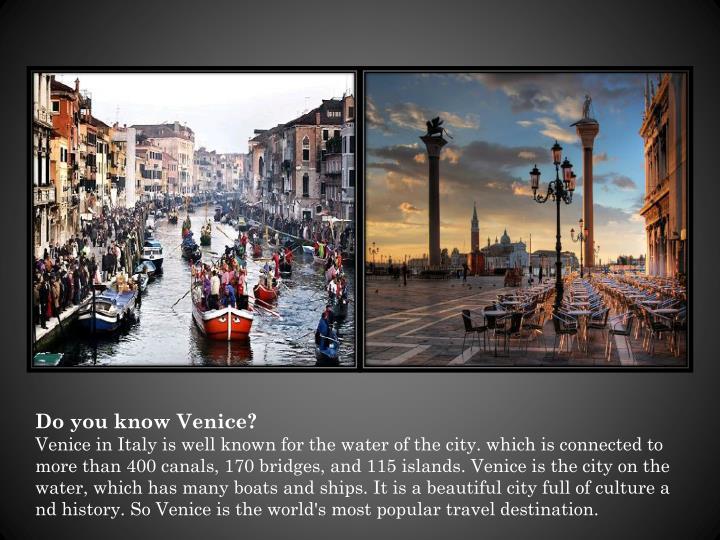 Do you know Venice