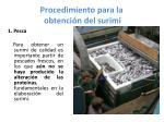 procedimiento para la obtenci n del surimi