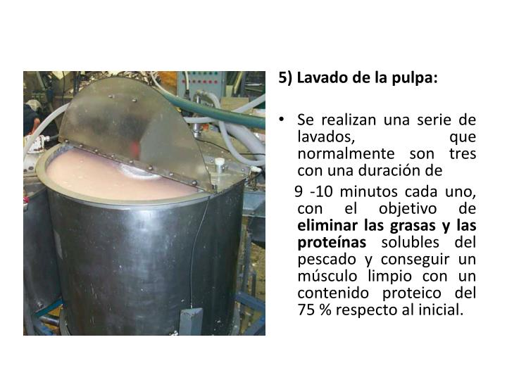 5) Lavado