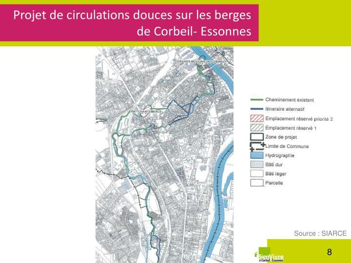 Projet de circulations douces sur les berges de Corbeil-