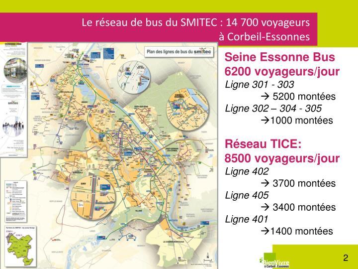 Le réseau de bus du SMITEC : 14 700 voyageurs