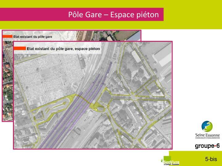 Pôle Gare – Espace piéton