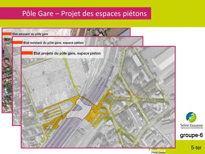 Pôle Gare – Projet des espaces piétons