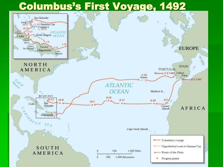 Columbus's First Voyage, 1492