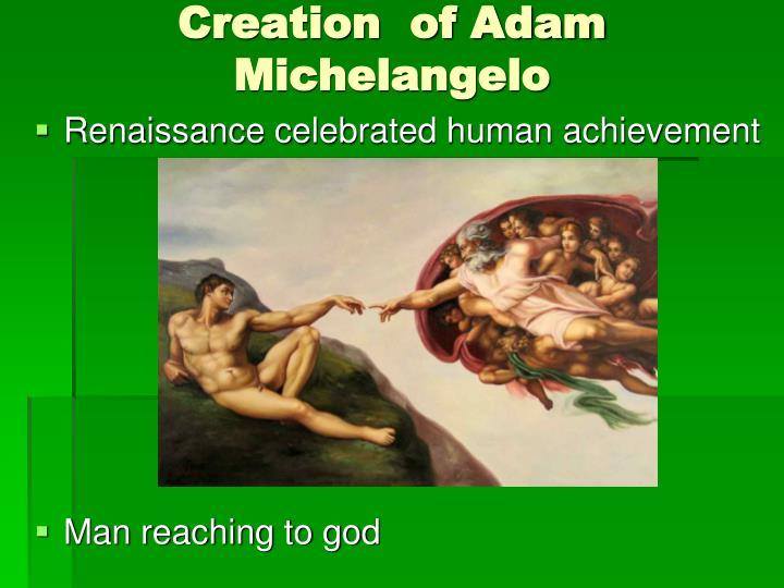 Creation  of Adam