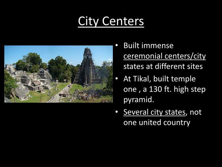 City Centers