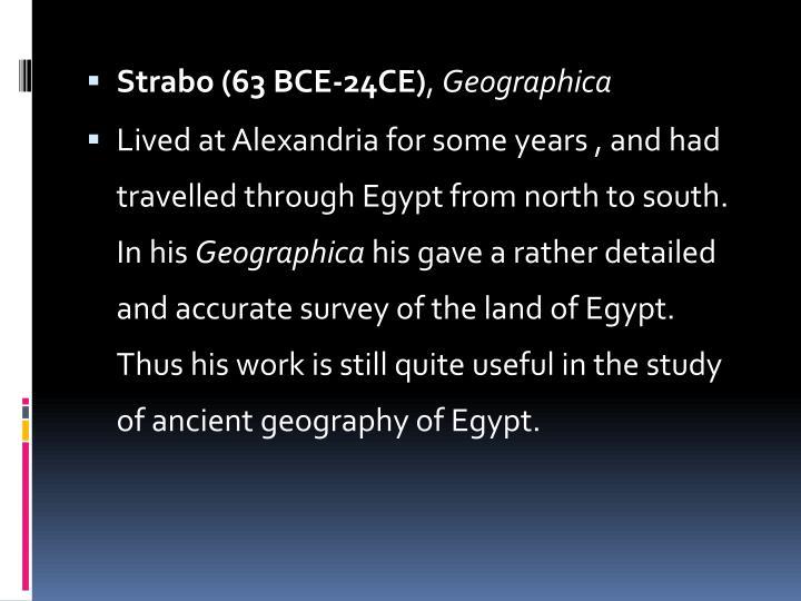 Strabo (63 BCE-24CE)