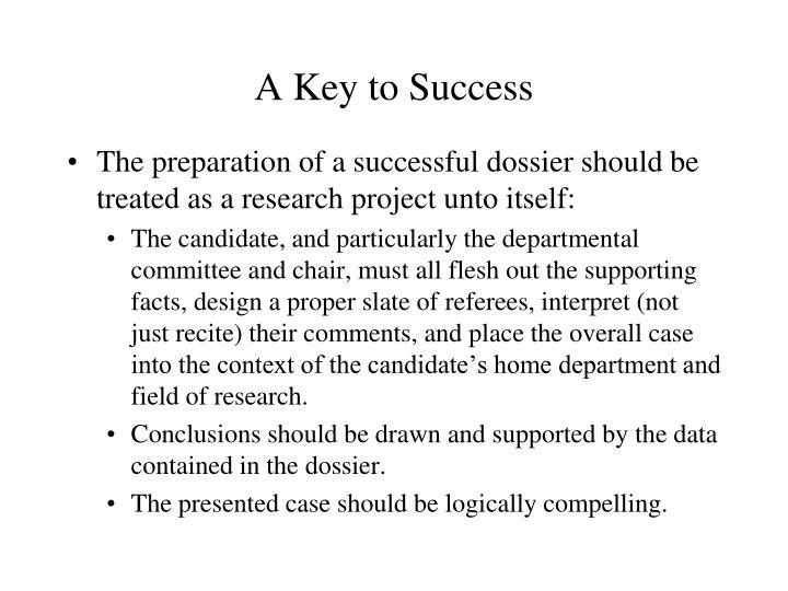 A Key to Success