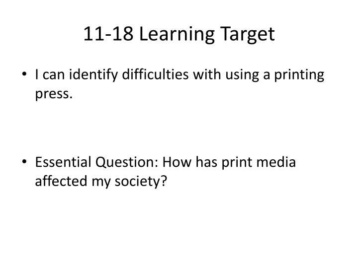 11 18 learning target