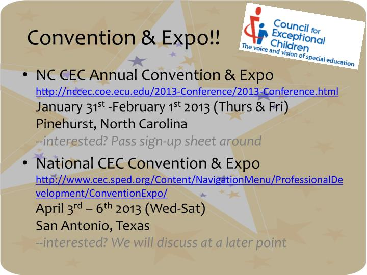 Convention & Expo!!