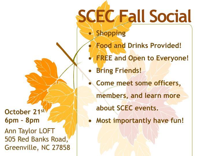 SCEC Fall Social