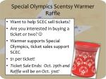 special olympics scentsy warmer raffle