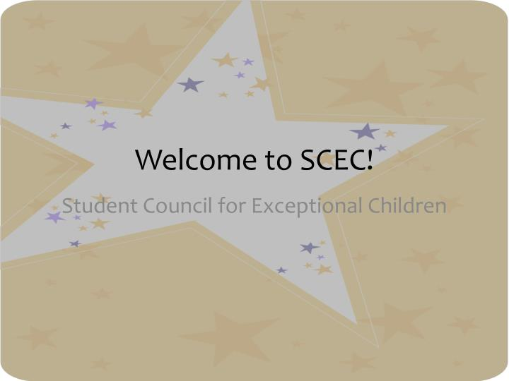 Welcome to scec