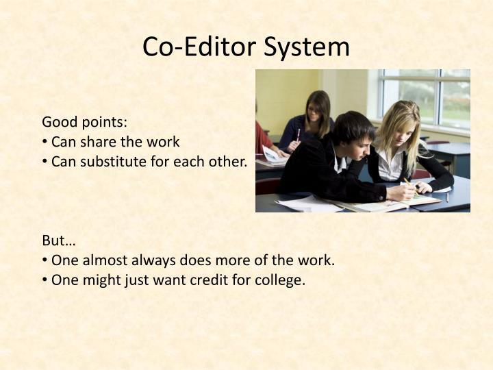 Co-Editor System