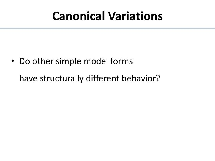 Canonical Variations