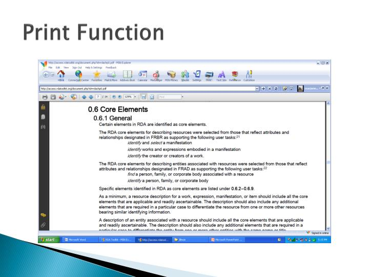 Print Function