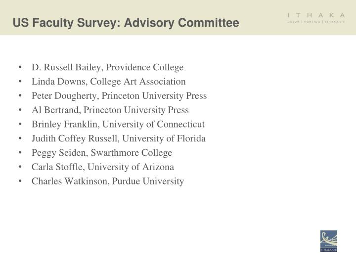 US Faculty Survey: Advisory Committee
