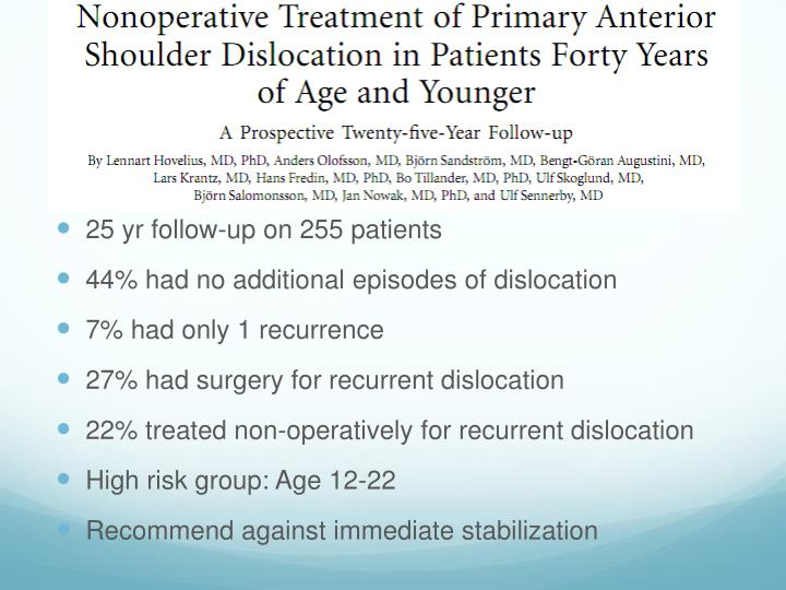 25 yr follow-up on 255 patients