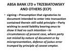 absa bank ltd v trzebiatowsky and others ecp1