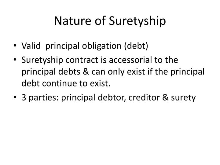 Nature of Suretyship