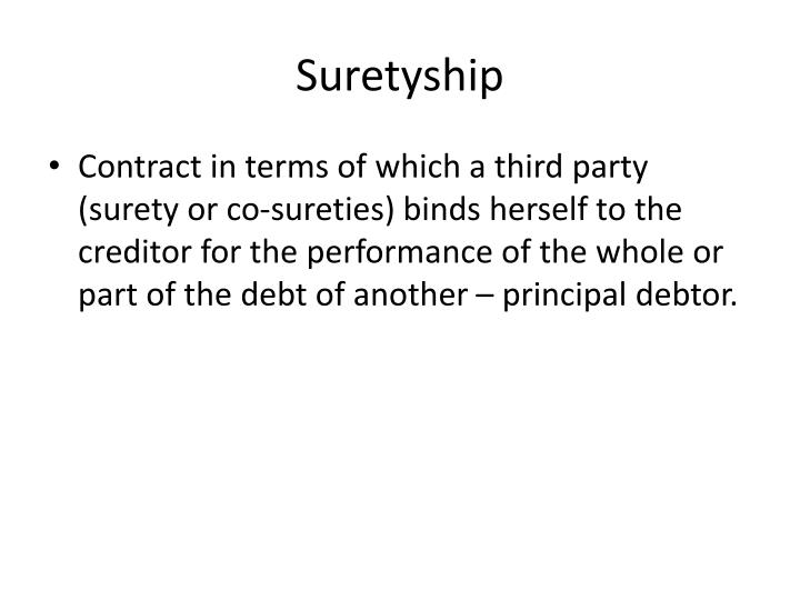 Suretyship