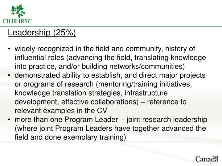 Leadership (25