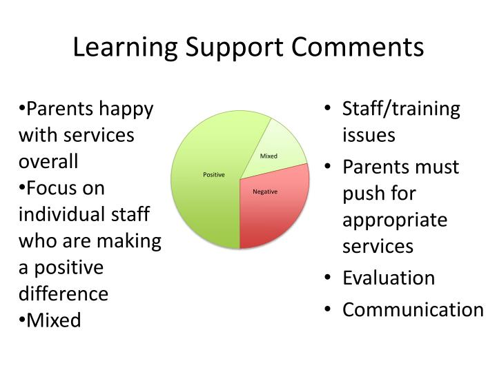 Learning Support Comments
