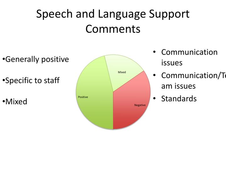 Speech and Language Support Comments