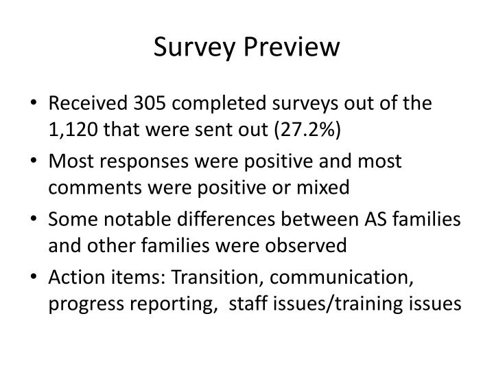 Survey Preview