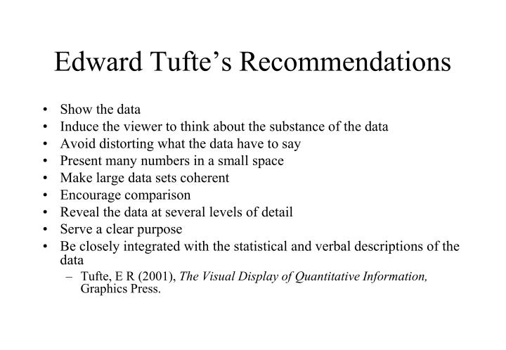 Edward tufte s recommendations