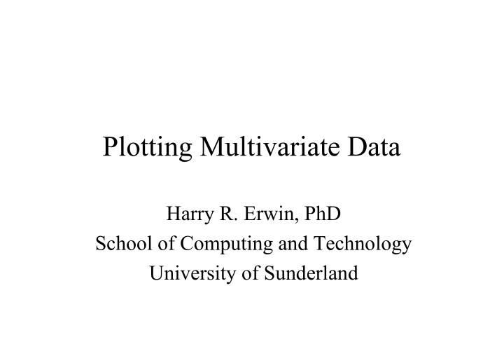 Plotting multivariate data