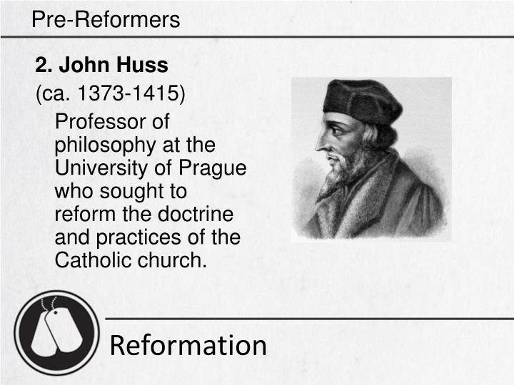 Pre-Reformers
