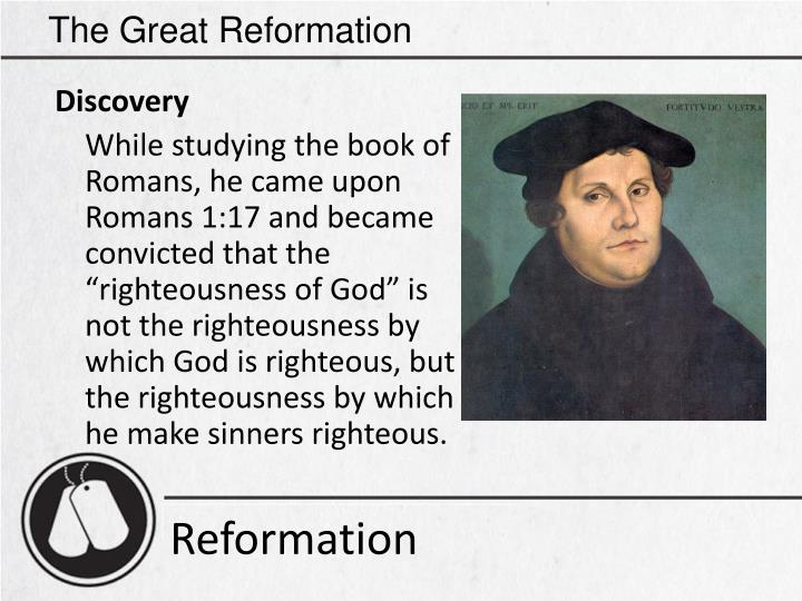 The Great Reformation