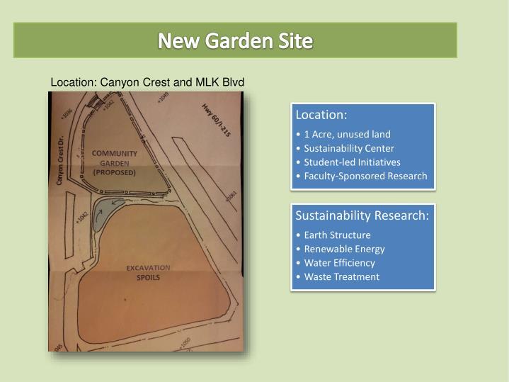 New Garden Site