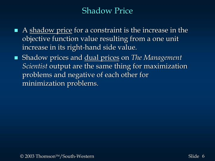 Shadow Price