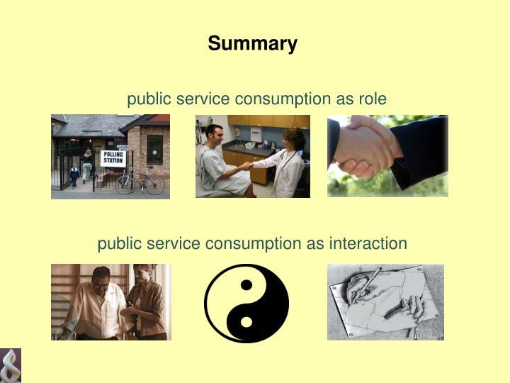 public service consumption as role