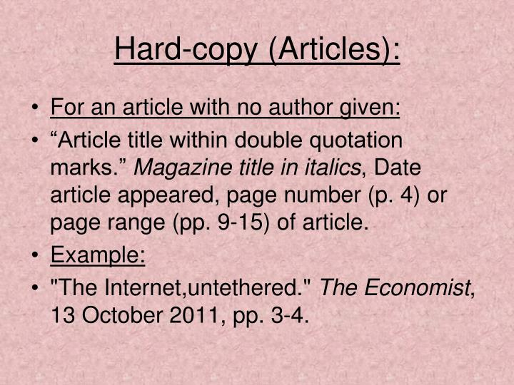 Hard-copy