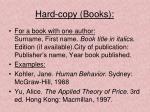 hard copy books