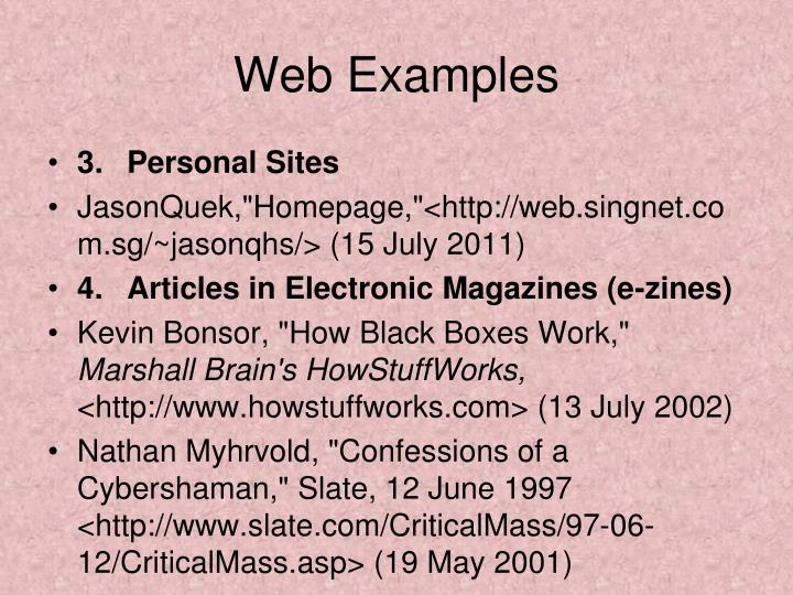 Web Examples