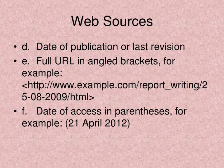 Web Sources