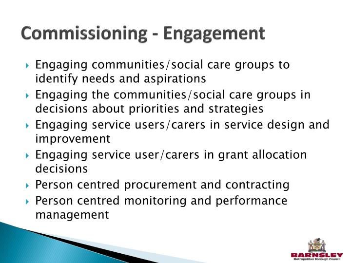 Commissioning - Engagement