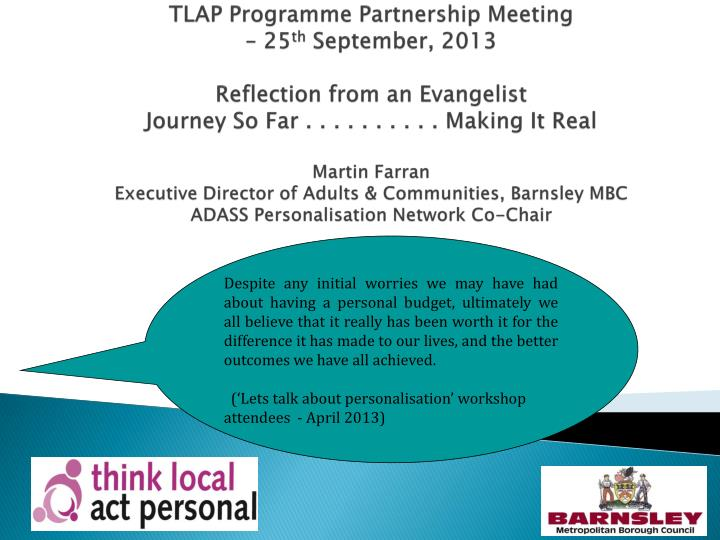 TLAP Programme Partnership Meeting